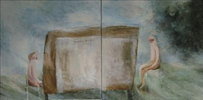The negotiating table (Diptych)