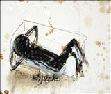 Don't expect by Alice Leach, Painting, Oil stick & graphite on gesso on board