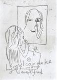 I know I can make myself more beautiful by Alice Leach, Artist Print