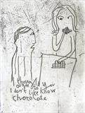 I thought you ought to know I don't like chocolate by Alice Leach, Artist Print