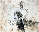 I'm not yours to lose by Alice Leach, Painting, Oil stick & graphite on gesso on board