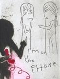 I'm on the phone by Alice Leach, Artist Print