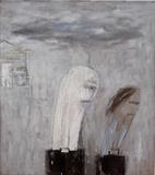 Mr & Mrs Basic go home by Alice Leach, Painting, Oil on Linen