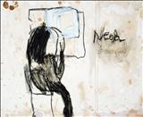 Need see you by Alice Leach, Painting, Oil stick & graphite on gesso on board