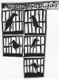 Poached bird shadows by Alice Leach, Artist Print, Vino cut (lino cut)