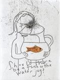 Should there be a fish in the water jug? by Alice Leach, Artist Print