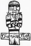 The Tinsel Thief by Alice Leach, Artist Print, Vino cut (lino cut)