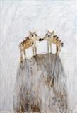 We pressed our noses up against each other by Alice Leach, Painting, Oil on Paper